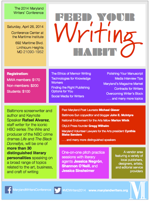 2014 Maryland Writers' Conference Flyer